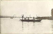 WWI German Real Photo PC- Combat Engineers- Pioneers- Pontoon Bridge Boat