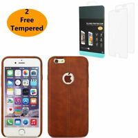 For Apple iPhone X 8 7 Plus 6s Genuine Rugged Flip Thin Slim Leather Case Cover