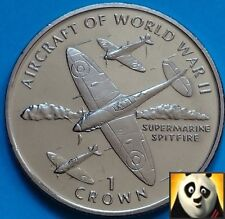 1995 ISLE OF MAN 1 One Crown Spitfire Aircraft Of WWII WW2 Uncirculated Coin