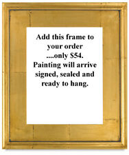 Gold Leaf Plein Air Style Frame ( 8x10 )  For Oil Painting Art William HAWKINS