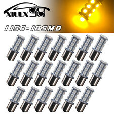 20x Amber/Yellow 1156 BA15S 18-SMD LED Light Bulbs Turn Signal Blinker Parking