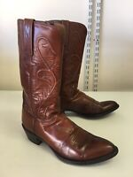 Vintage Lucchese Leather Western Cowboy Boots Rockabilly Men's 9.5 D
