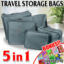 5pcs Travel Luggage Organizer Packing Cube Pouch Suitcase Clothes Storage Bags