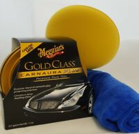 Meguiar's Gold Glass Carnauba Plus Paste Wax 311g With Cloth And Applicator Pad