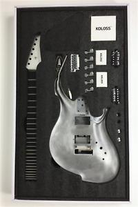 KOLOSS GT-4 Chambered Aluminum Body Electric Guitar DIY Kit Package