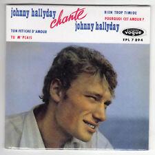 CD SINGLE EP  CARTONNE JOHNNY HALLYDAY CHANTE JOHNNY HALLYDAY