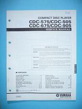 Service Manual für Yamaha CDC-575/CDC-505/CDC-675/CDC-905  ,ORIGINAL