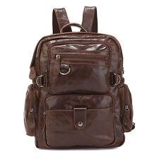 Luxus Vintage Rucksack Laptoptasche echt Leder Tasche Business Notebook Schule