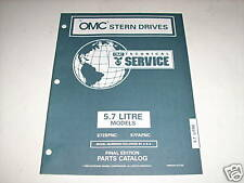 OMC Cobra 5.7 Liter Stern Drives Parts Catalog 1996