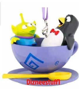 Disney Pixar Toy Story Wheezy Alien Green Men Tea Cup Spinning Ornament
