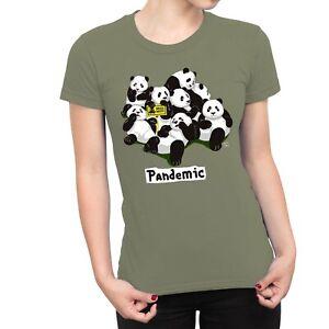 1Tee Womens Pandemic Panda T-Shirt
