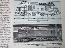 Bahn Lokaufrisse E & Diesel DRG 81 E 244 22 Versuchslok Höllentalbahn 1950