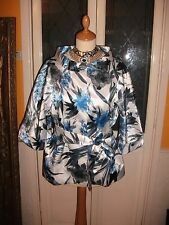 Ladies Floral Satin Jacket size 14 by Sasha