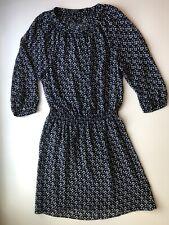 Lauren Ralph Lauren Bohemian Sheer Blue & White Dress, Petite Size 12, Floral