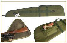 AKAH Nylon Gewehrfutteral Fleece-Futter 128cm GRÜN Büchsenfutteral Seitentasche