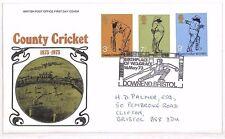 AU177 1973 GB *DOWNEND BRISTOL* County Cricket FDC Cover {samwells}PTS