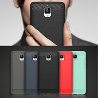 For OnePlus 3 / 3T Soft Armor Shockproof TPU Rubber Brushed Protector Case Cover