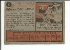JOHN POWELL BALTIMORE ORIOLE ROOKIE CARD 1962 #99