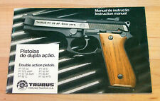 Vintage Taurus Pt57/92/99 Double Action Pistol Factory Instruction Manual