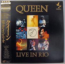 e872 Japan Laserdisc QUEEN Live in Rio De Janeiro, Brazil 1985 Freddie Mercury