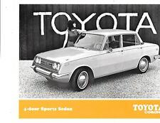USA TOYOTA CORONA 4-DOOR SEDAN SPORTS SEDAN SALES 'BROCHURE'/SHEET LATE 60's