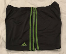 Adidas Men's Soccer Running Shorts Charcoal Gray Size Large Excellent Preowned