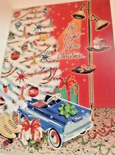 Christmas Greeting Card Retro style The Night before Christmas-Unused+Env