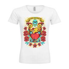 Tattoo-Totenkopf Damen-T-Shirts