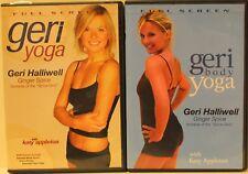 2 Geri Halliwell yoga workout exercise fitness DVD lot Katy Appleton body ginger