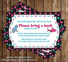 One Fish, Two Fish - Gender Reveal - Shower - Bring a Book Inserts - 15 Prin