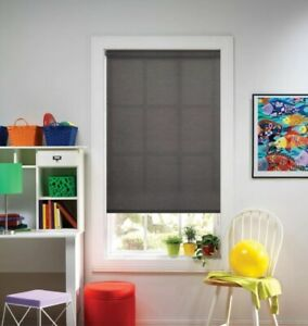 NEW Bali Cut to Size Cordless Light Filtering Roller Shade - Graphite