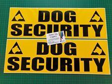 DOG UNIT Magnet magnetic Sign K9 Unit DOG SECURITY SIA PATROL 250mm x 2
