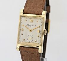 Vintage Mathey Tissot 14K Solid Gold 13gr 22mm 50s Manual Swiss Watch