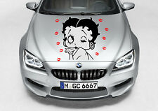 """BETTY BOOP KISSING CAR DECAL GRAPHIC VINYL (23""""H X 23""""W) HOOD OR SIDE"""