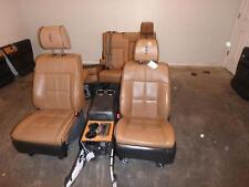 2013 2014 LINCOLN NAVIGATOR EXPEDITION FRONT SEAT BROWN LEATHER DVD HEADRESTS