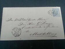 Nederland Envelop Geuzendam  Brielle-Middelburg 1888 puntstempel 18