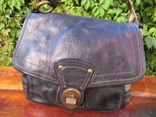 Vintage COACH  LEGACY Black LEATHER SHOULDER BAG Purse Black  F063-10327.
