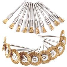 20 Pcs Copper Steel Wire Polishing Wheel Brush Drum Set For Dremel Rotary Tools