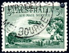 1929 Australia Sg 115 3d green Air Mail Good Used