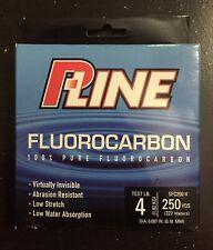 P-Line 100% Pure Fluoocarbon Fishing Line / 4 Lb Test / 250 Yards / Sfc250-4