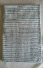 New listing Carters Cotton Flannel Baby Receiving Blanket Multi Blue Stripes Extra Large