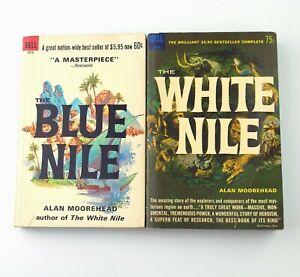 ALAN MOOREHEAD The White Nile + The Blue Nile (2 Dell Paperbacks, 1966 + 1967)