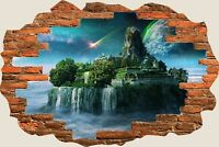 3D Hole in Wall Fantasy Castle Princess Prince View Wall Sticker Decal Mural 939