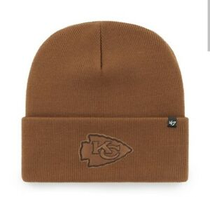 Kansas City Chiefs Carhartt Mens Brown Cuff Knit Winter Hat cap toboggan nwt NFL