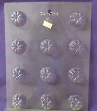 Deep Fluted Flower chocolate fondant candy molds Lot of 6