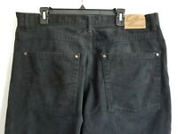 GodBody GB Design Mens Jeans Black Denim Pockets Zip Straight Leg Size 40X34