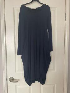 Jersey Girl navy dress , size 10
