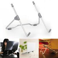 Folding Laptop Stand Aluminum Alloy Anti Slip Bracket Base Gray for iPad Tablet