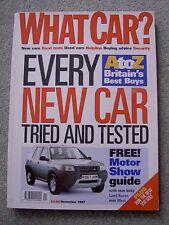 What Car (Nov 1987) Peugeot 406 Coupe, Prelude, Audi A8, BMW 728, XJ8, Mondeo,VW