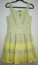 NWT Darling Lemon Yellow Tear Drop Abbie Dress Size M